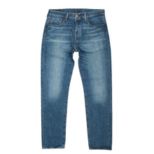 Levis Custom Tapered Fit Washed Finish Original Fit 501 Rich Blend Blue Denim Jeans for Men LEVI6494
