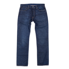 Levis Straight Leg Regular Waist Button Fly Washed Blue Original Fit 501 Chip Jeans for Men LEVI6492