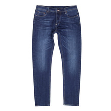 dbbf49b7607 Mens Washed Dark Blue Stretch Cotton Mix RPQ16135 Slim Fit Jeans with  Button Fly by RMC