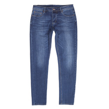 Red Monkey RMC Stretch RPQ16135 Cotton Mix Slim Fit Mid Blue Washed Denim Jeans with Button Fly RMC7522