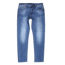 1d4f8a4493d Mens Stretch Cotton Mix RPQ16135 Slim Fit Jeans in Washed Light Blue with  Button Fly by