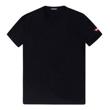 Dsquared2 Mens Black slimfit T Shirt with Sleeve Logo DSQ28346