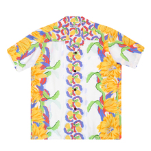 SUN SURF Mens Regular Fit Short Sleeve SS33876 White Hawaiian Shirt with Night Blooming Cereus Border SURF7568