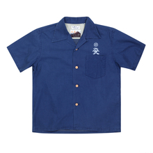 Sun Surf Limited Edition Musha-E Drawing Print SS37652 Regular Fit Short Sleeved Navy Cotton Hawaiian Shirt SURF7541