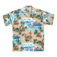 Sun Surf Mens Island Chronicle Beige Hawaiian Shirt SURF8591