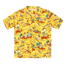Sun Surf Mens Hawaiian Hula Yellow Hawaiian Shirt SURF8587