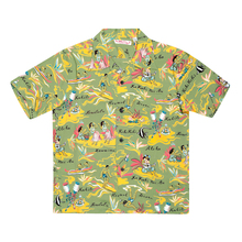 Sun Surf Rayon SS37771 Regular Fit Short Sleeve Cuban Collared Green Hawaiian Shirt with Hawaiian Hula Print SURF8586