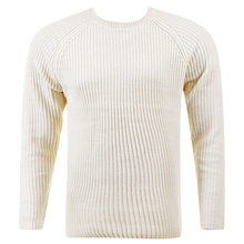 Thug or Angel Sweater Men's Jet Black collection  cream crew neck knitted jumper. JBLK3916