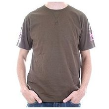 Evisu Mens Chocolate Colour Regular Fit Short Sleeve Crew Neck T Shirt with Evisumo League Print EVIS0790
