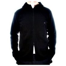 Massimo Osti long sleeve black hooded knitwear