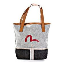 Evisu Womens Reversed Denim Mini Shopper Bag with Red Seagull Logo EVIS3325