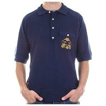 Evisu Raglan Short Sleeve Navy Regular Fit Pique Polo T Shirt EVIS3126