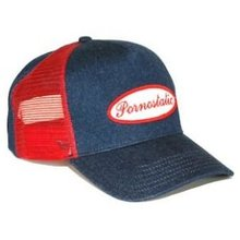 Pornostatic cap Denim trucker cap
