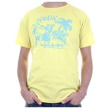 Evisu European Edition Short Sleeve Crew Neck Cotton Yellow Regular Fit T-shirt EVIS3103