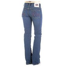 Evisu Dark indigo Straight Leg Low Waist Denim Jeans for Women EVIS2445