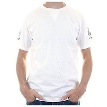 Evisumo Regular Fit Short Sleeve Crew Neck T-shirt in White EVIS0792