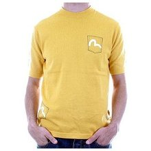 Evisu T-shirt mens 5 Pocket saffron knitted top