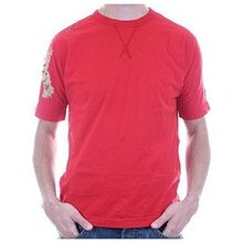 Evisu Tiger Regular Fit Crew Neck Short Sleeve Red T Shirt EVIS3165