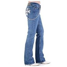 Fake London Genius womens low waist denim jeans FAKE2526