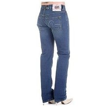 Evisu Womens Dark wash Low Waist Straight Leg Denim Jeans EVIS2442