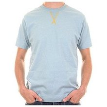 Evisu Pale Blue Short Sleeve Crew Neck Cotton T-shirt with Mighty Evisu Embroidery EVIS2211
