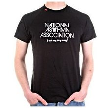 RedDot 'National Asthma Association' short sleeve black t-shirt