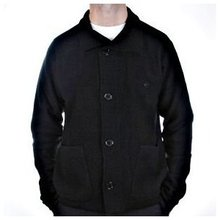 Massimo Osti jacket long sleeve black knitted cardigan jacket