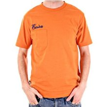 Evisu Orange Short Sleeve Regular Fit T Shirt with Embroidered Grand Evisu Print EVIS2289