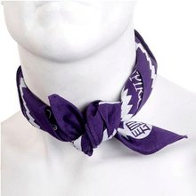 Yoropiko Cotton Purple Bandana With Printed Logo YORO2963