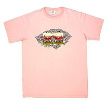 RMC Jeans Sumo Print Pink Crew Neck Short Sleeve Regular Fit T-Shirt REDM6400