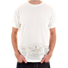 RMC Jeans Rare Cotton Short Sleeve Crew Neck Natural T Shirt with Exclusive THE CHAMPION Print REDM5948