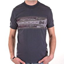 D&G t-shirt Dolce & Gabbana washed grey slim fit top DGM3027