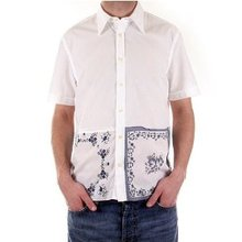 Paul Smith Shirt mens white short sleeve shirt. PS3429