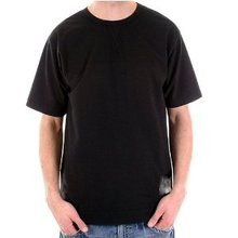 Evisu Mens Crew Neck Short Sleeve Regular Fit Black T Shirt with Embroidered Logo on Shoulder EVIS0727