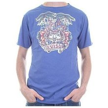 Evisu Indigo Vintage European Edition Reversible Short Sleeve Regular Fit Vintage T-Shirt EVIS3108