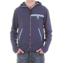 Armani Jeans long sleeve zipped blue hoody. AJM0753