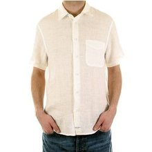 CP Company Shirt off white short sleeve shirt. CP2133.