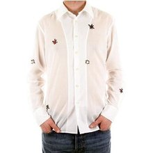 Paul Smith shirt emboridered mens white long sleeve shirt. PS3456