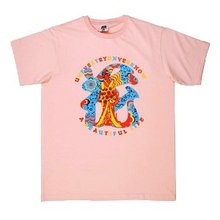 RMC Jeans Pink Regular Fit Short Sleeve Crew Neck T-Shirt with Shehana Yogahar Flower Print REDM6396