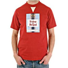Evisu Red Crew Neck Short Sleeve Regular Fit Cotton T-shirt for Men EVIS2294