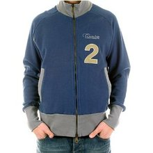 Fake London Genius jacket navy long sleeve zipped sweat shirt. FAKE6814