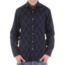 Pringle mens shirt long sleeve dark navy shirt. PRNG1875