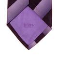 Hugo Boss tie navy and lilac striped silk tie 50185463