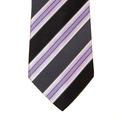 Hugo Boss Tie grey and pink diagonal striped silk tie 50189308
