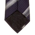 Giorgio Armani Tie navy with silver striped silk tie 219W339