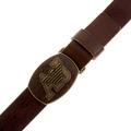 Armani Jeans chocolate brown leather belt N610 615 AJM0006