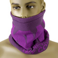 RMC Jeans Reversible Deep Purple Head and Neck Warmer Snood with Toggle and Pull Cord Closure REDM5497