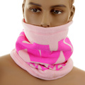 RMC Jeans Reversible Light Pink Head and Neck Warmer Snood with Toggle and Pull Cord Closure REDM5484