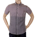 Armani Jeans short sleeve check K6C3 0AO shirt. AJM1187