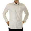 Paul Smith mens shirt grey and white stripe shirt 654F 714 PS4513